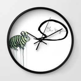 Surprised Chinchilla Wall Clock