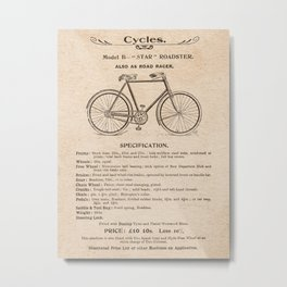VINTAGE GOODS / Bicycles - Roadster Metal Print