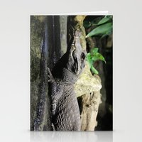 crocodile Stationery Cards featuring Crocodile by Falko Follert Art-FF77