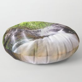 waterfall in the woods Floor Pillow