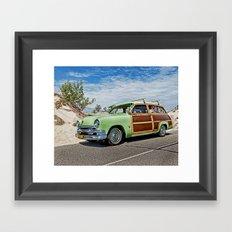 Woodie on the Beach Framed Art Print