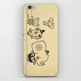 Forest Friends \ Cute Animals March\ elephant cats dogs  iPhone Skin