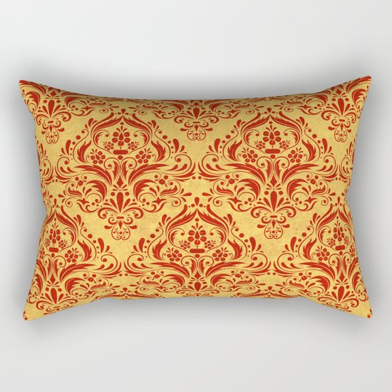 Halloween damask colors #1 Rectangular Pillow