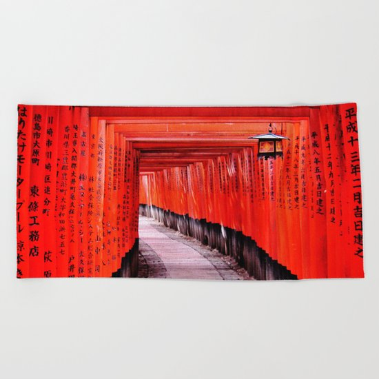 Through the Gates (Kyoto, Japan) Beach Towel