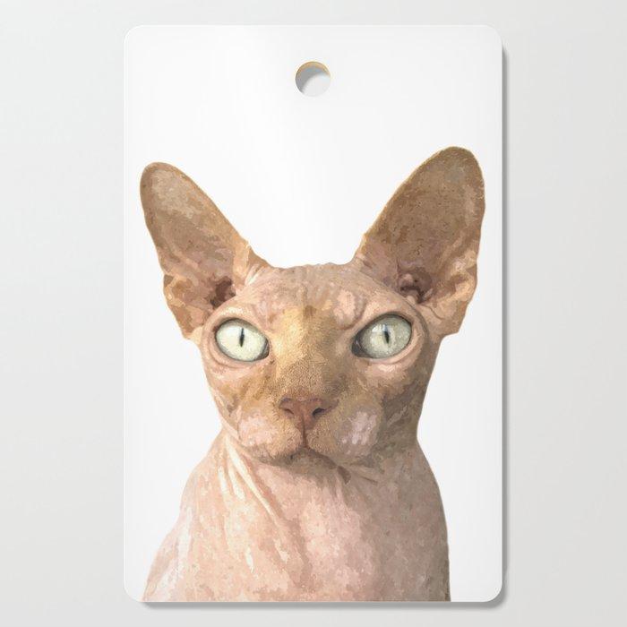 Sphynx cat portrait Cutting Board