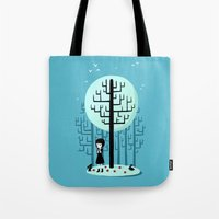 snow white Tote Bags featuring Snow White by Freeminds