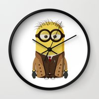 doctor who Wall Clocks featuring Doctor Who by Henrik Norberg