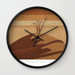 Minimalist Fantastic Mr.Fox Wall Clock