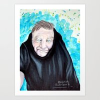 robin williams Art Prints featuring Robin Williams  by Melissa Rodriguez