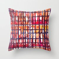 plaid Throw Pillows featuring Plaid by Selkiesong