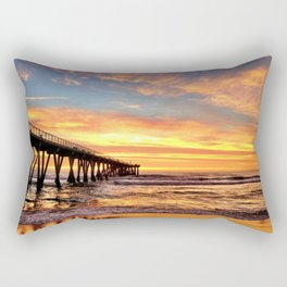 "Hermosa Beach ""A Parade of Colors"" Rectangular Pillow"