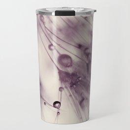 dandelion aubergine Travel Mug