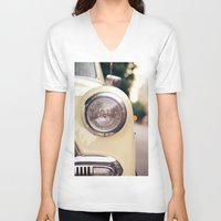 car V-neck T-shirts featuring The car by Nina's clicks