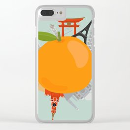 the orange world this is for saving world Clear iPhone Case