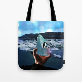 Penguins on a piece of ice by GEN Z Tote Bag