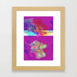 gLICHKING will hug __u (forced collaboration w/ Resn & Alea Bushardt) Framed Art Print