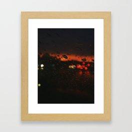 October City Nights Framed Art Print
