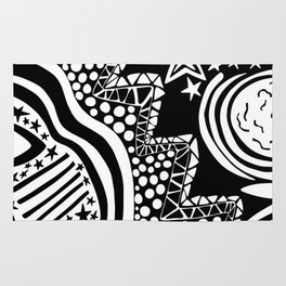 Soul Of The Dream Desert - Star Gazer (Black and White Edition) Rug