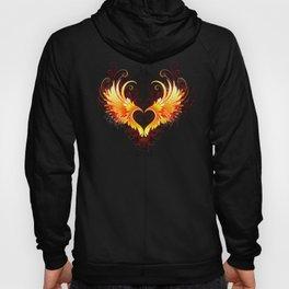 Angel Fire Heart with Wings Hoody