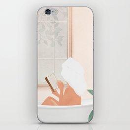 Reading Girl in Bathtub iPhone Skin
