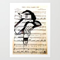 Bird In Music-The I Will Marry You. Art Print