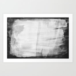 Minimal Black and White Abstract 10 Texture Art Print