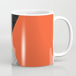 Black and White Marbles and Pantone Flame Color Coffee Mug