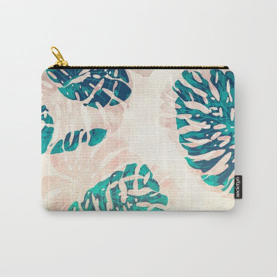 CALI TROPICAL LEAVES Carry-All Pouch