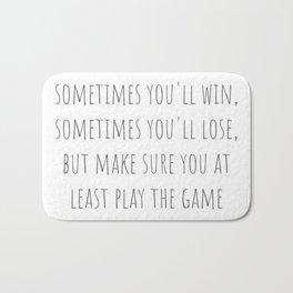 Play The Game Bath Mat