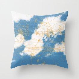 Cloud Chamber Throw Pillow