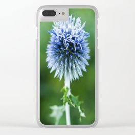 Globe Thistle Clear iPhone Case