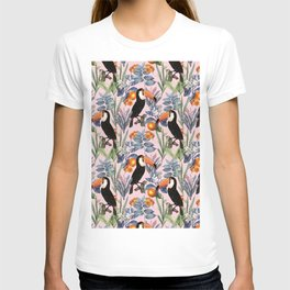Tucan Garden #pattern #illustration T-shirt