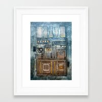 cityscape Framed Art Prints featuring Cityscape by Maureen Mitchell