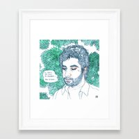 lucas david Framed Art Prints featuring Lucas by Max Elbo