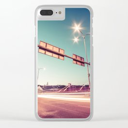 Road Intersection and Traffic Lights Clear iPhone Case