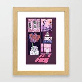 summer is ended Framed Art Print