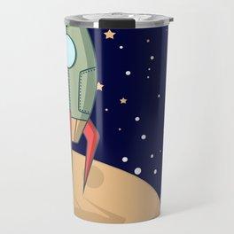 A retro rocket Travel Mug