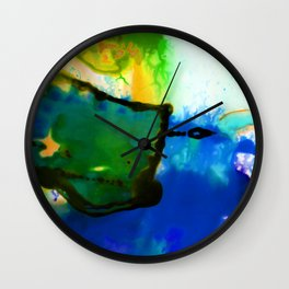 Abstract Bliss 4I by Kathy Morton Stanion Wall Clock