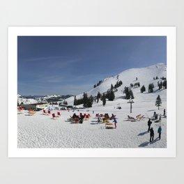 Spring Ski Art Print