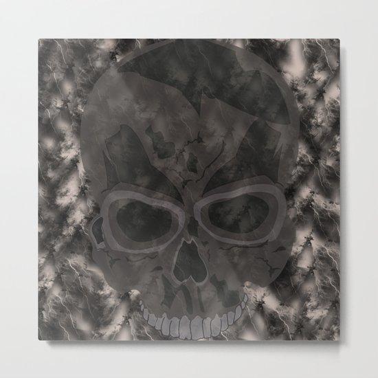 Abstract,Skull Metal Print