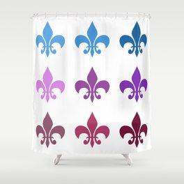 Colorful Fleur de Lis Shower Curtain