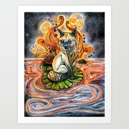 Lily Kitsune Art Print