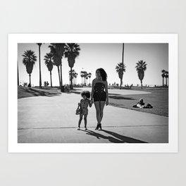 mother & daughter Art Print