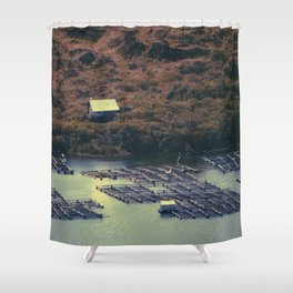 Balinese fisheries  Shower Curtain