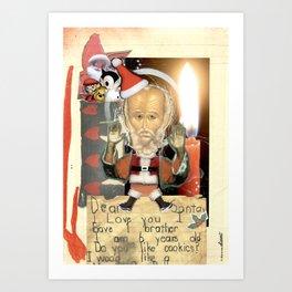 COLLAGE: Santa Claus Art Print