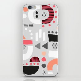 Tiny Inventor - Pink with Grey iPhone Skin