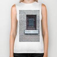 window Biker Tanks featuring Window by Marieken