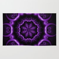 heavy metal Area & Throw Rugs featuring Heavy Metal by inkedsandra