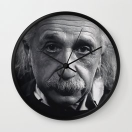 Albert Einstein Life is Too Short to Argue with Stupid People famous quote photograph / photography Wall Clock