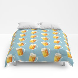 Ice Cold Beer Pattern Comforters